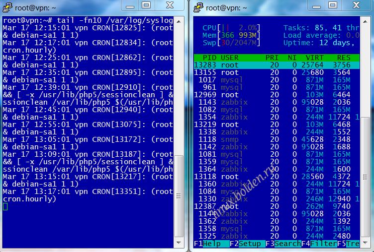 Описание утилиты screen в Linux